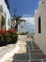 In the Village, outside Francesco's hostel.